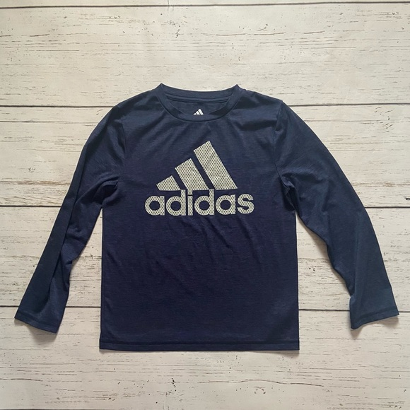 Kids Navy long sleeve Adidas shirt